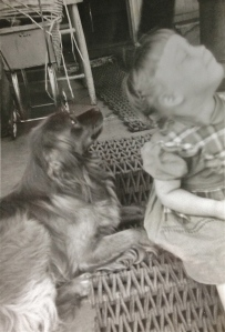A Young Me & My Dog Pal